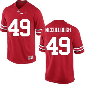 Mens Ohio State Buckeyes #49 Liam McCullough Red College Football Jerseys 366807-137