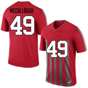Mens Ohio State Buckeyes #49 Liam McCullough Throwback College Football Jerseys 730242-584