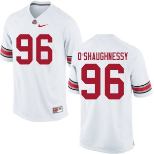 Mens Ohio State Buckeyes #96 Michael O'Shaughnessy White College Football Jerseys 738622-359