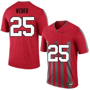 Mens Ohio State Buckeyes #25 Mike Weber Throwback College Football Jerseys 626633-972