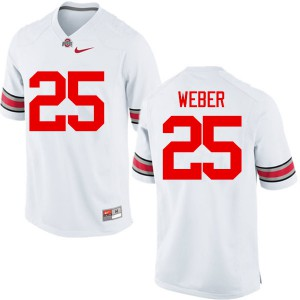 Mens Ohio State Buckeyes #25 Mike Weber White College Football Jerseys 731050-994