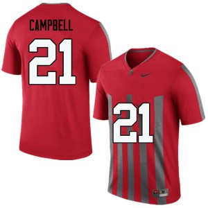 Mens Ohio State Buckeyes #21 Parris Campbell Throwback College Football Jerseys 356510-317