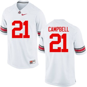 Mens Ohio State Buckeyes #21 Parris Campbell White College Football Jerseys 532934-493