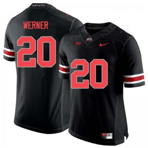 Mens Ohio State Buckeyes #20 Pete Werner Blackout College Football Jerseys 492735-847