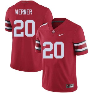 Mens Ohio State Buckeyes #20 Pete Werner Red College Football Jerseys 616393-992