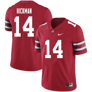 Mens Ohio State Buckeyes #14 Ronnie Hickman Red College Football Jerseys 201858-733