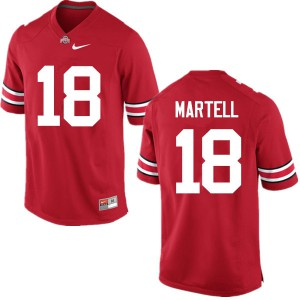 Mens Ohio State Buckeyes #18 Tate Martell Red College Football Jerseys 412423-149