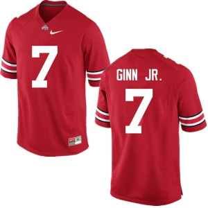 Mens Ohio State Buckeyes #7 Ted Ginn Jr. Red College Football Jerseys 626609-343