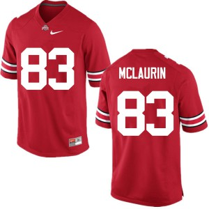 Mens Ohio State Buckeyes #83 Terry McLaurin Red College Football Jerseys 487431-915