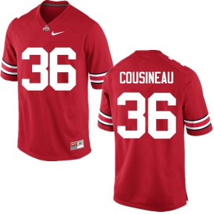 Mens Ohio State Buckeyes #36 Tom Cousineau Red College Football Jerseys 487101-430