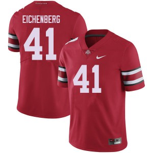 Mens Ohio State Buckeyes #41 Tommy Eichenberg Red College Football Jerseys 182917-374