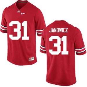 Mens Ohio State Buckeyes #31 Vic Janowicz Red College Football Jerseys 693898-250