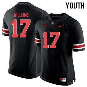 Youth Ohio State Buckeyes #17 Alex Williams Black Out College Football Jerseys 116365-749