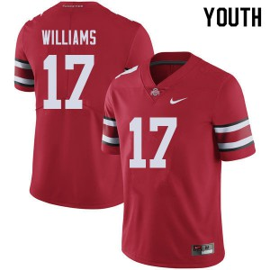 Youth Ohio State Buckeyes #17 Alex Williams Red College Football Jerseys 243992-283