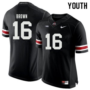Youth Ohio State Buckeyes #16 Cameron Brown Black College Football Jerseys 324507-295