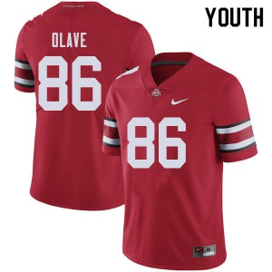 Youth Ohio State Buckeyes #86 Chris Olave Red College Football Jerseys 618730-804