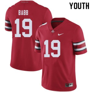 Youth Ohio State Buckeyes #19 Dallas Gant Red College Football Jerseys 709531-664