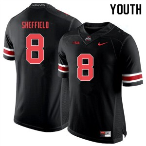 Youth Ohio State Buckeyes #8 Kendall Sheffield Black Out College Football Jerseys 238641-161