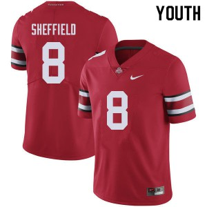 Youth Ohio State Buckeyes #8 Kendall Sheffield Red College Football Jerseys 821544-117