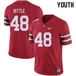 Youth Ohio State Buckeyes #48 Logan Hittle Red College Football Jerseys 472225-142
