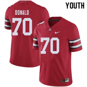 Youth Ohio State Buckeyes #70 Noah Donald Red College Football Jerseys 959680-236