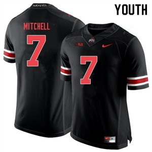 Youth Ohio State Buckeyes #7 Teradja Mitchell Black Out College Football Jerseys 179225-972