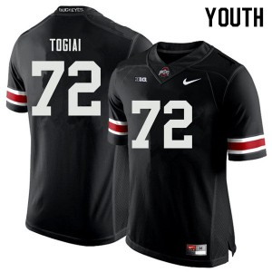 Youth Ohio State Buckeyes #72 Tommy Togiai Black College Football Jerseys 210778-506