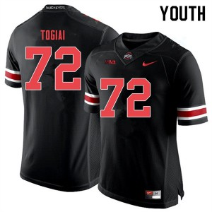 Youth Ohio State Buckeyes #72 Tommy Togiai Black Out College Football Jerseys 996006-846