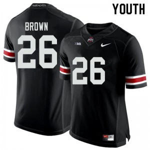 Youth Ohio State Buckeyes #26 Cameron Brown Black College Football Jerseys 364635-344