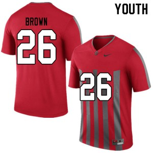 Youth Ohio State Buckeyes #26 Cameron Brown Throwback College Football Jerseys 925088-846