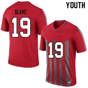 Youth Ohio State Buckeyes #19 Chris Olave Throwback College Football Jerseys 480326-816