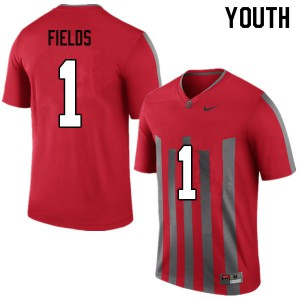Youth Ohio State Buckeyes #1 Justin Fields Throwback College Football Jerseys 845864-804