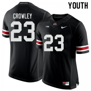 Youth Ohio State Buckeyes #23 Marcus Crowley Black College Football Jerseys 889147-750