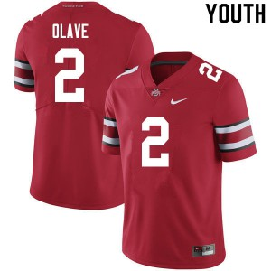 Youth Ohio State Buckeyes #2 Chris Olave Scarlet College Football Jerseys 886908-467
