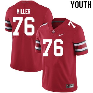 Youth Ohio State Buckeyes #76 Harry Miller Scarlet College Football Jerseys 315068-260