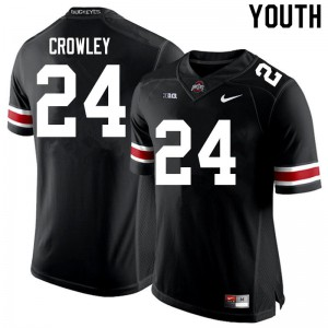 Youth Ohio State Buckeyes #24 Marcus Crowley Black College Football Jerseys 746226-357