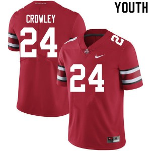 Youth Ohio State Buckeyes #24 Marcus Crowley Scarlet College Football Jerseys 879169-944