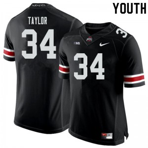 Youth Ohio State Buckeyes #34 Alec Taylor Black College Football Jerseys 997850-468