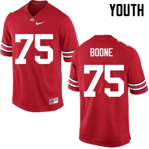 Youth Ohio State Buckeyes #75 Alex Boone Red College Football Jerseys 326372-544