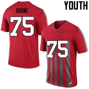 Youth Ohio State Buckeyes #75 Alex Boone Throwback College Football Jerseys 705583-277