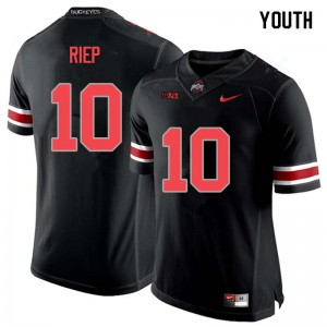 Youth Ohio State Buckeyes #10 Amir Riep Blackout College Football Jerseys 320088-455