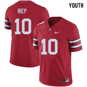 Youth Ohio State Buckeyes #10 Amir Riep Red College Football Jerseys 699179-632