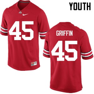 Youth Ohio State Buckeyes #45 Archie Griffin Red College Football Jerseys 412236-312