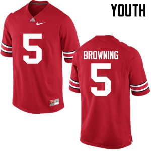 Youth Ohio State Buckeyes #5 Baron Browning Red College Football Jerseys 388259-970