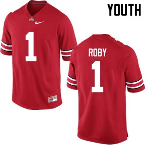 Youth Ohio State Buckeyes #1 Bradley Roby Red College Football Jerseys 447462-690