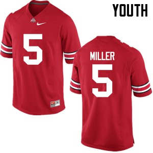 Youth Ohio State Buckeyes #5 Braxton Miller Red College Football Jerseys 999550-796