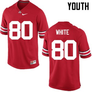 Youth Ohio State Buckeyes #80 Brendon White Red College Football Jerseys 501491-907