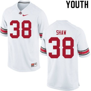 Youth Ohio State Buckeyes #38 Bryson Shaw White College Football Jerseys 610476-473