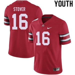 Youth Ohio State Buckeyes #16 Cade Stover Red College Football Jerseys 669306-634
