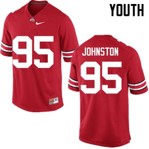 Youth Ohio State Buckeyes #95 Cameron Johnston Red College Football Jerseys 595456-714